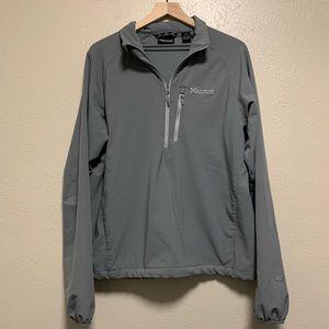 Marmot gray pullover 1/4 zip light jacket